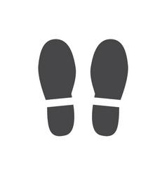 abstract footwear flat footprint black icon vector image