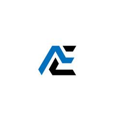 Ae letter business logo vector