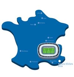 Allianz Riviera Nice Euro 2016 clipart vector image