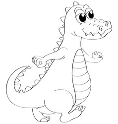 Animal outline for crocodile vector