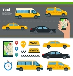 App for Booking Taxi Different Types vector image