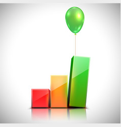 Balloon lifts the chart vector