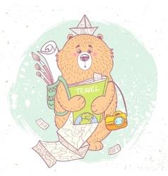 bear travel vector image