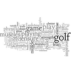 Best exercise tips for golfers vector