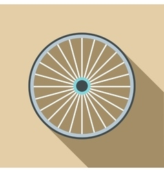 Bicycle wheel icon flat style vector