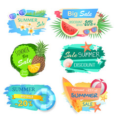 Big sale and summertime offer vector