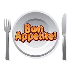 Bon appetit icon vector