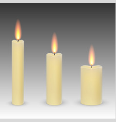 burning candles isolated vector image