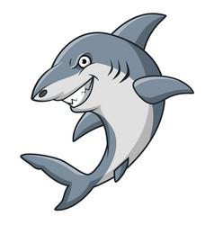 cartoon angry shark mascot design vector image