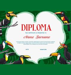 Certificate diploma template kid education vector