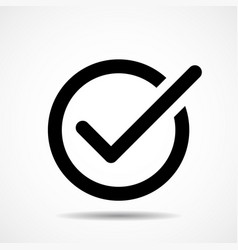 check mark icon flat icon symbol vector image