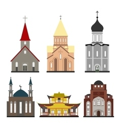 Churches of different religions vector