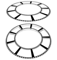 Circle filmstrip isolated with shadow for vector