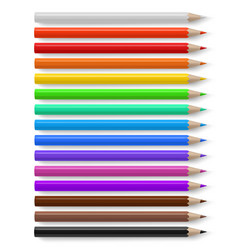 color pencils different bright colored wooden vector image