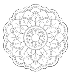 Coloring Floral Round Ornament vector