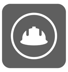 Construction Helmet Flat Squared Icon vector
