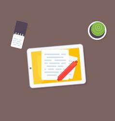 copywriting and writing vector image
