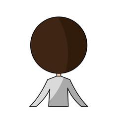 Cute husband back avatar character vector
