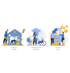 Daycare financial help abstract concept vector