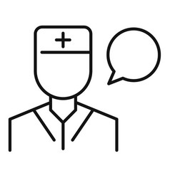 Doctor speech therapist icon outline style vector