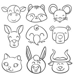doodle of animal hand draw style vector image vector image