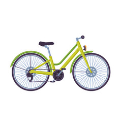 Dutch bicycle ecological sport transportclassic vector