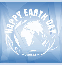 earth day poster design vector image