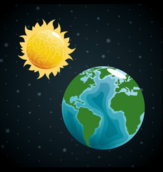 Earth planet in the space vector