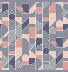 Elegant retro style rose and gray seamless pattern vector