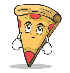 eye roll pizza character cartoon vector image
