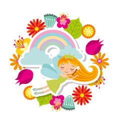 Fairy girl icon vector