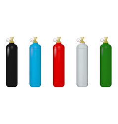 Gas cylinders vector