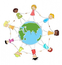 global children image vector image
