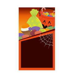 halloween card party invitation vector image