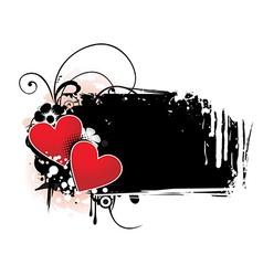 Heart grunge vector image