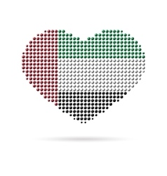 I love UAE Creative heart flag vector