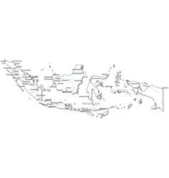 Indonesia Black White Map vector