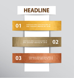 infographic design with 3 steps vector image