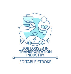 Job losses in transportation industry concept icon vector