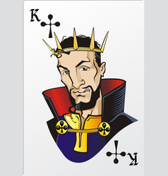 King of clubs Deck romantic graphics cards vector image