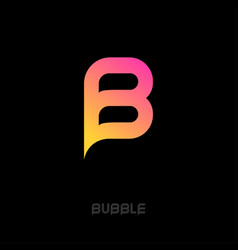 letter b monogram like bubble symbol vector image