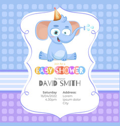 lovely baby shower card with an elephant vector image