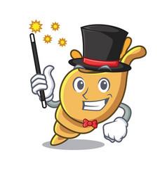Magician exotic shell mascot cartoon vector