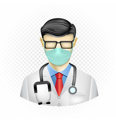 Masked doctor template vector