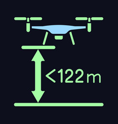 Max flight height rgb color manual label icon vector