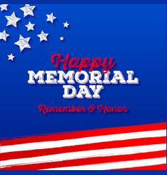 memorial day - greeting card design vector image