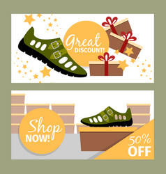 men summer green shoe flyers vector image