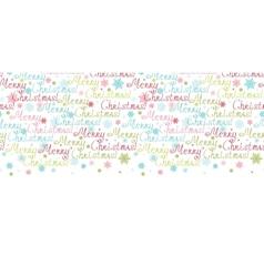 Merry christmas text horizontal border seamless vector