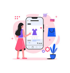 mobile shopping vector image
