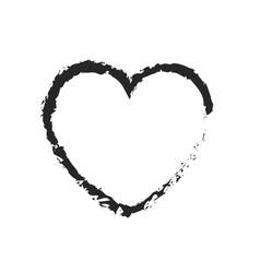 monochrome blurred silhouette of heart icon vector image